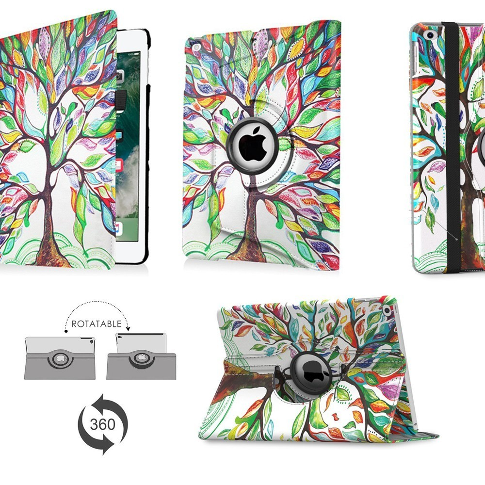 PU Leather Flip Cover Case For IPad 2018 2017 9.7 IPad Air 2 IPad 360 Degree Rotating Stand Case For IPad 6th 5th Generation
