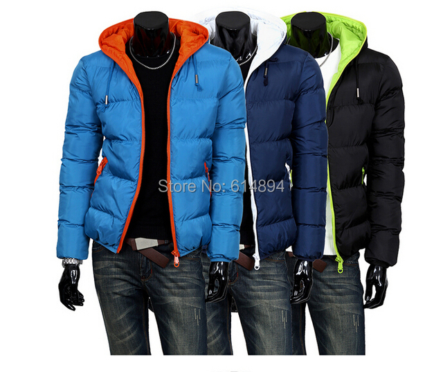 2015mens winter jacket men's hooded wadded coat winter thickening outerwear male slim casual cotton-padded outwear