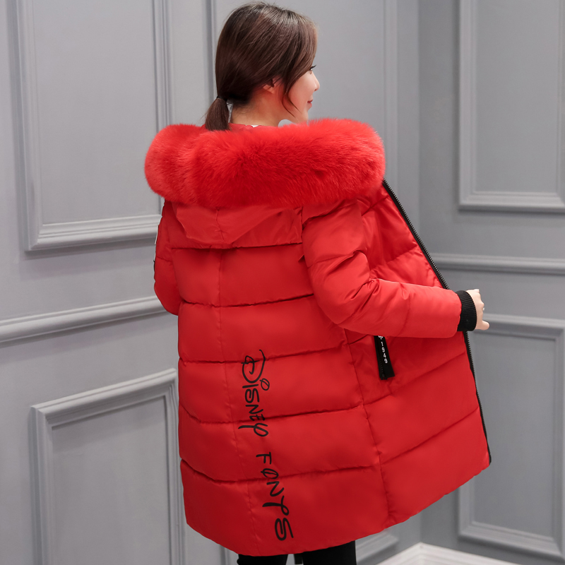 2018 Fashion Long Winter Jacket Women Warm Thicken Hooded Fur Long Coat Women Outerwear   Parka   chaqueta mujer plus size