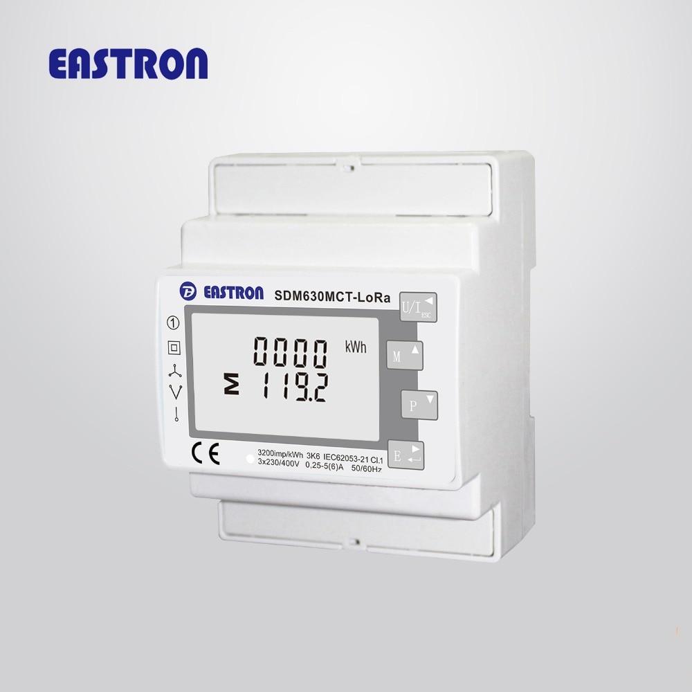 SDM630MCT-LoRaMesh AS923/EU868 МГц 1A/5A CT подключен LoRaMesh Wireles мульти-Функция три фазы din-рейку счетчик энергии