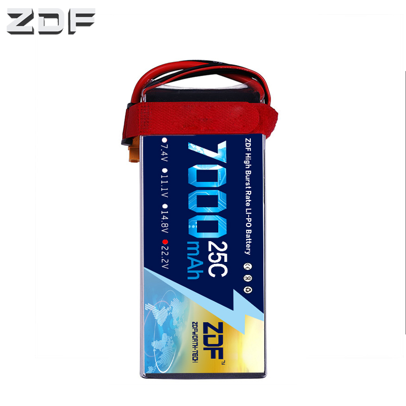 ZDF Good Quality 22 2V 7000mAh 6S Lipo Battery 25C Max 50C for RC Airplane Helicopter