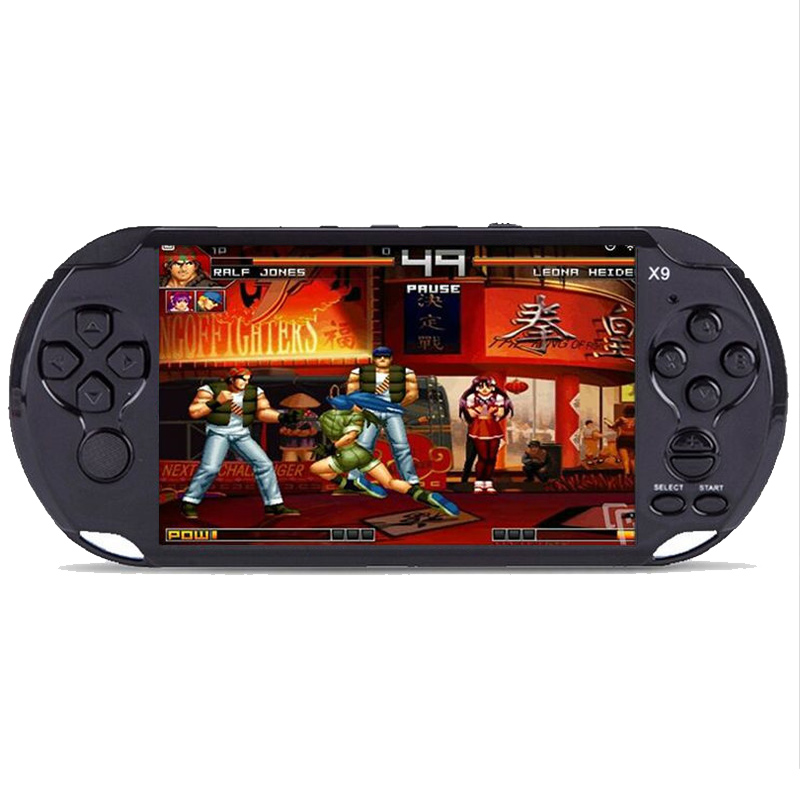 X9 Handheld Game Player 8GB 5.0 Screen Classic Games AV Output TV Video Game Console Movie Camera E-book Multifunction for kids