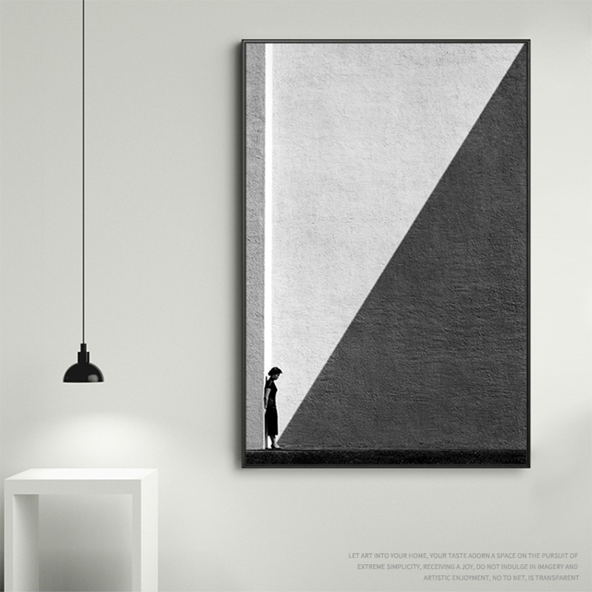 MUTU Abstract Poster Black And White Photography Canvas Painting Pictures For Living Room Modern Home Decor Painting Wall Art