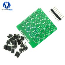 4x4 4*4 Matrix Keypad Keyboard module 16 Botton mcu For Arduino Diy Kit Electronic PCB Board Module(China)