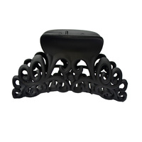 Hair Claw Hairdress For Women Scrub Black Plastic Hair Claw Clips Hollow Out Carving Crab For Hair Large Size Hair Clamps Hair Accessories