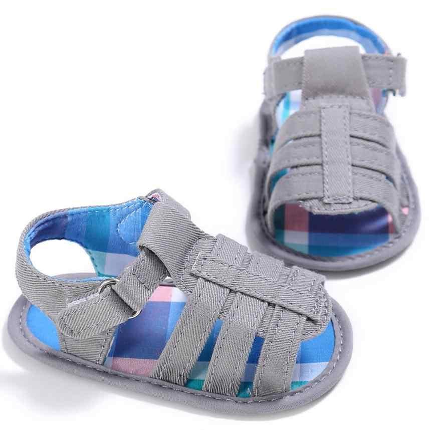 Niños niña niños suela blanda de lona Niño de cuna sandalias para recién nacidos Zapatos Bebé Linda Scarpe Neonata # YL1