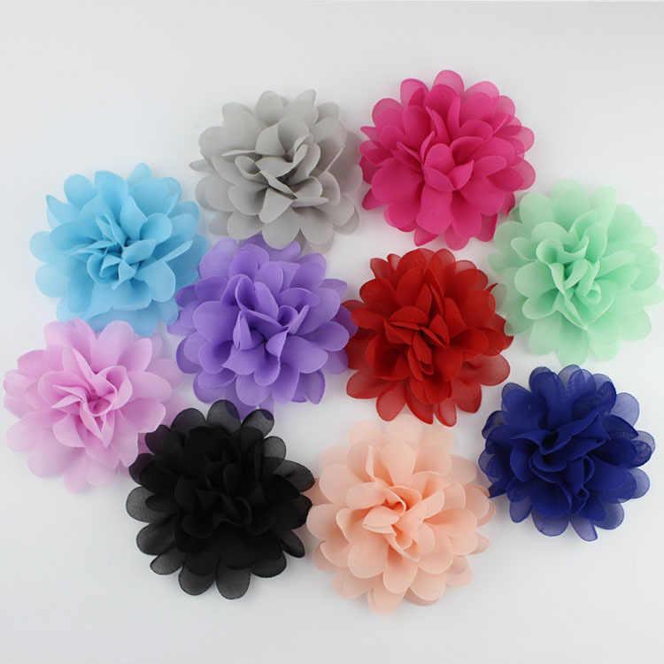 10 สี Candy เด็กสาวผมอุปกรณ์เสริมขนาดเล็กชีฟองดอกไม้เด็ก Headwear ไม่มีคลิปการถ่ายภาพ Props Far ดูสีชมพู