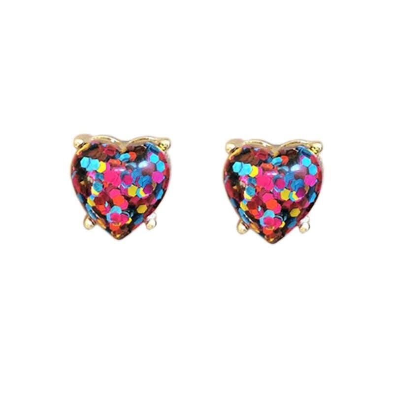 Zwpon 2020 新ケイトグリッターハートスタ女性のファッションジュエリーゴールド声明愛ハートイヤリングバレンタインデーのギフト