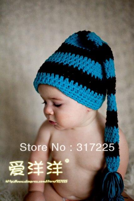 Ganchillo recién nacido de la cola larga, Elf sombrero, por encargo ...