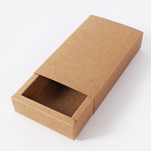 Fashion Kraft Paper Foldable Jewelry Box Craftwork Gift Box for font b Tie b font font