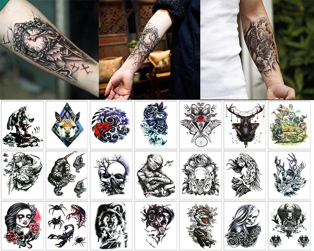 Us 0 86 18 Off Y Xlwan 24 Body Art Mummy China God Of War Pattern Flash Tattoo Sticker In Temporary Tattoos From Beauty Health On Aliexpress Com