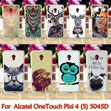 Soft TPU Cases For Alcatel OneTouch Pixi 4 5.0 inch OT-5045 5045D One Touch Pixi4 (5) 5045 Phone Skin Cover Shell Housings Bags