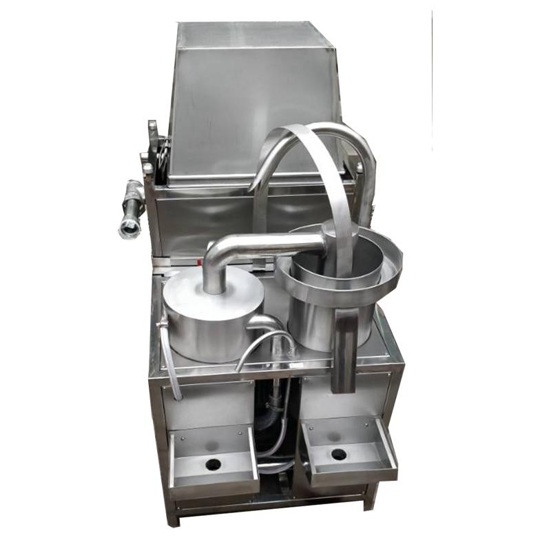 Éplucheur de rondelle/ail avec la machine de prix usine dacier inoxydable de compresseur dair/convoyeur à vendre