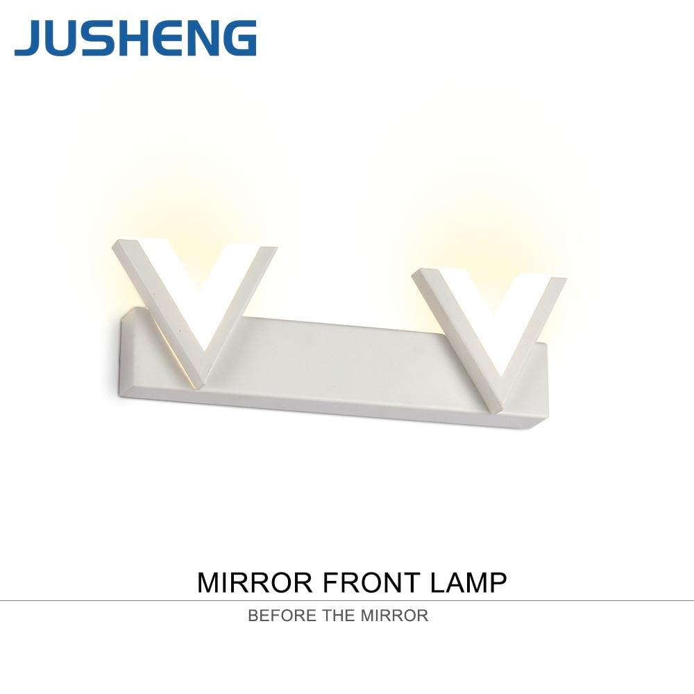 JUSHENG V-vorm Wit LED Wandlampen Armatuur Moderne Top Spiegel - Binnenverlichting