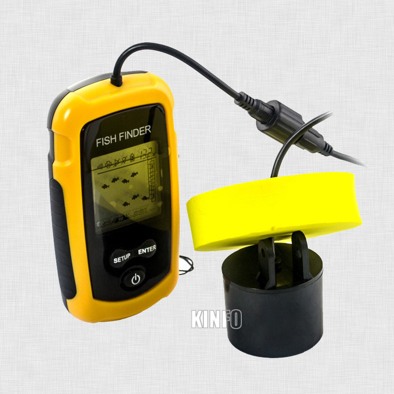 "online shop 2"" anti-uv lcd display portable waterproof sonar fish, Fish Finder"