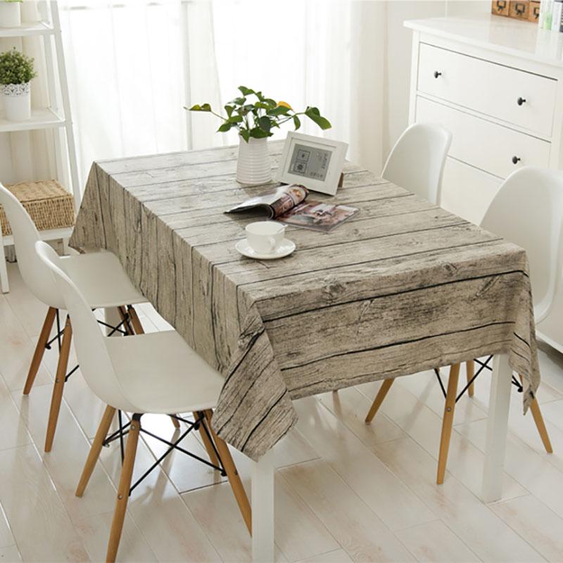 Linen Table Cloth Europe Wood Home Outdoor Party Cover Toalha De Mesa Manteles Para Ne Tablecloth In Tablecloths From