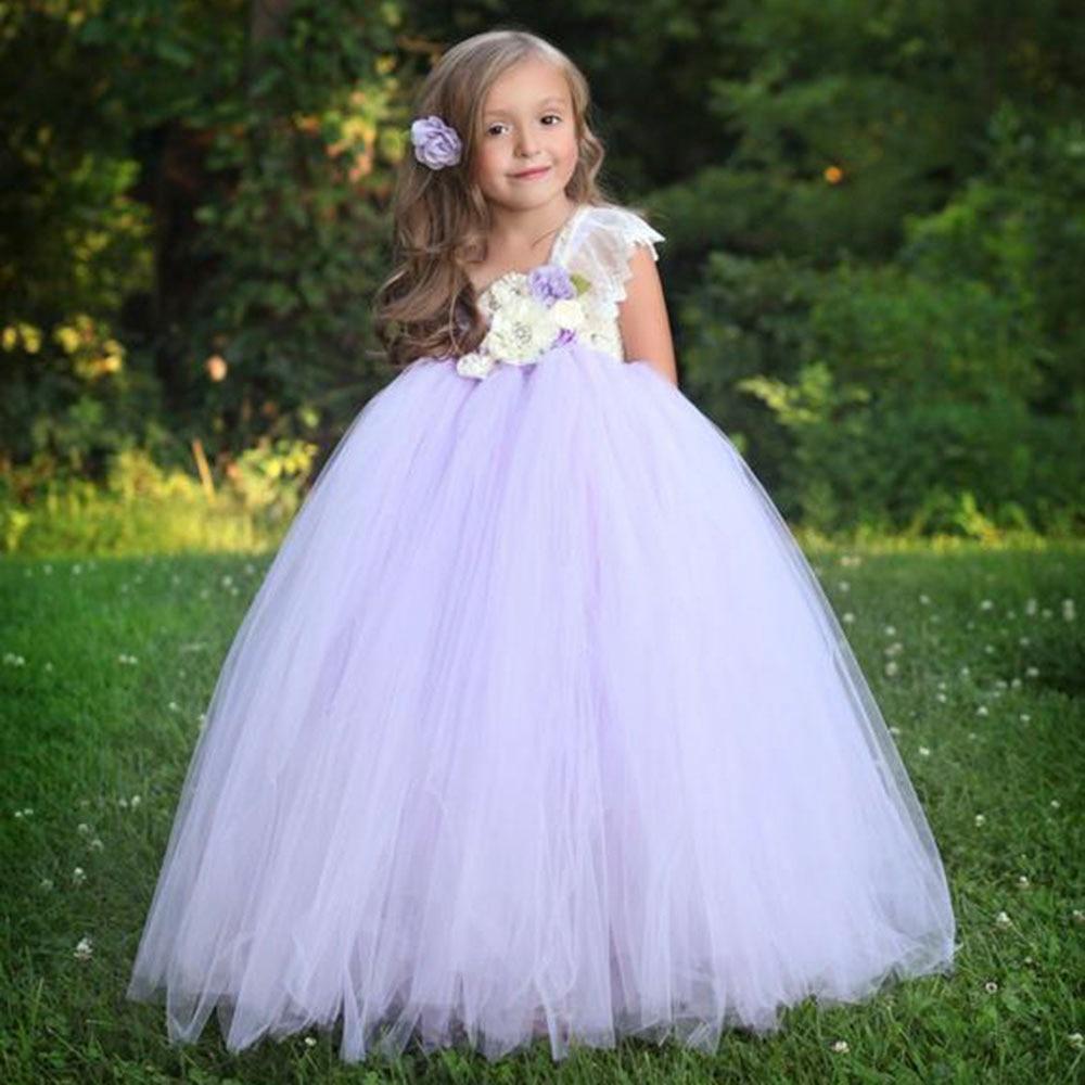 Lilacs Toddler Girl Christmas Tutu Dress Girls Frock Children Nova Ankle Length Lace One Shoulder Dress Kids Costume Princess 8T (24)