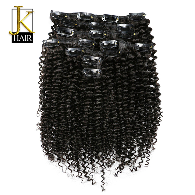Clip In Human Hair Extensions Remy Brazilian Kinky Curly Clip Ins