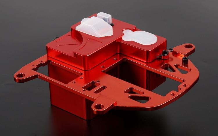 CNC Legering Symmetrische Steering Systeem met Metalen Batterij Case kit voor 1/5 HPI Rovan KM Baja 5B 5 t 5SC rc Onderdelen Upgrade - 2