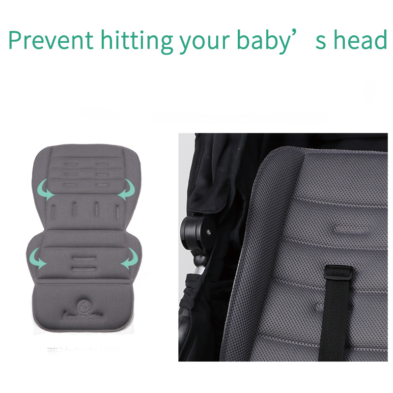Image 3 - Universal Baby stroller seat cushion Breathable seat pad soft and comfortable pram liner for four seasons stroller accessories-in Strollers Accessories from Mother & Kids