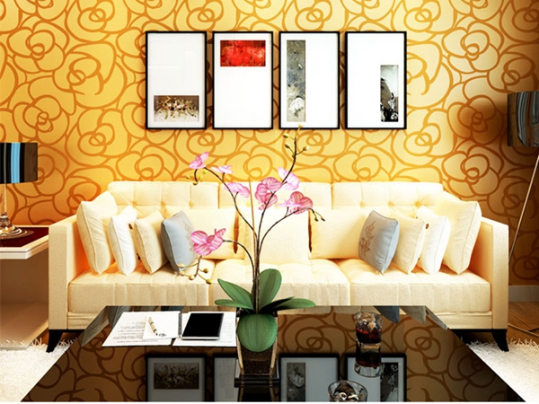 Dinding Latar Belakang Yang Modern Beludru Wallpaper Mawar Emas Untuk Ruang Tamu Klasik Kertas Dekorasi Rumah Pelapis Di Dari