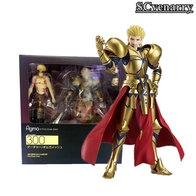 "Fate/stay Night figma 300# Fate Gilgamesh PVC Action Figure Collectible Model Christmas Gift Toy 5.5""15cm"