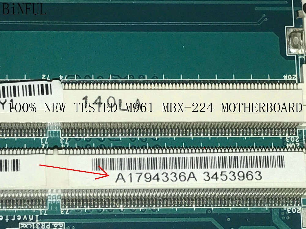 BiNFUL 100% SUPER NEW M961 MBX-224 A1794336A ( FIT A1794333A ) MAINBOARD MOTHERBOARD FOR SONY VPCEB SERIES NOTEBOOK PC a1794333a main board fit for sony vaio vpceb motherboard m961 mbx 224 ddr3 hm55 100