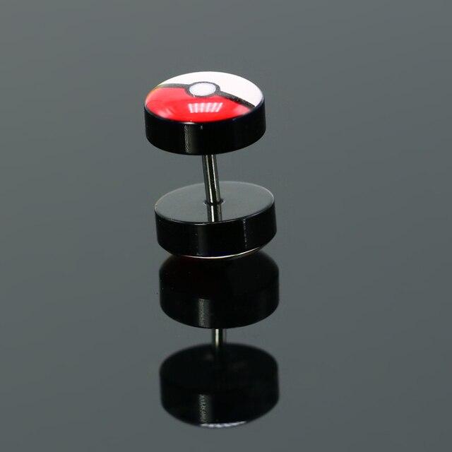 Pokemon Surigical Steel Fake Piercing Plug Ear Rings