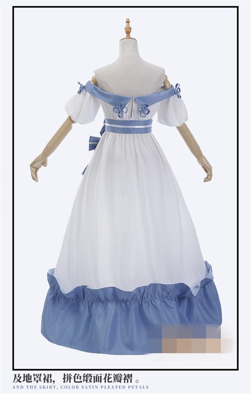 FF14 Final Fantasy Abendkleid Schöne Nacht Partei Weiß Blau Cosplay ...