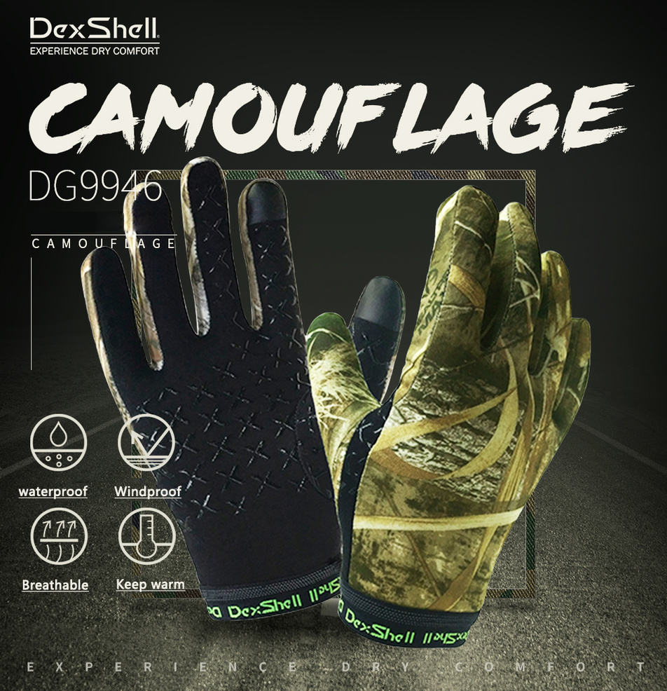 Dexshell Camouflage Military Hunting Waterproof Gloves Men Non slip Warm Rainy Climbing Outdoor Sport Skiing Watertight