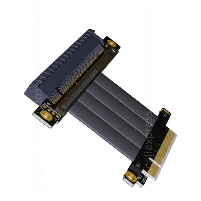 Cable Length: 10cm Occus PCIe Extension Cable x8 to x8 Riser Extender 8X PCI-e Cable 5cm 10cm 20cm 30cm 50cm 60cm 80cm 100cm Gen3.0 for 1U 2U Servers