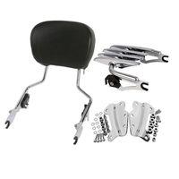 Motorcycle Backrest Sissy Bar Luggage Rack W/Docking Kit For Harley Touring Road King Street Glide FLHX FLHR FLHT FLTR 09 13