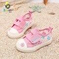 2016 marca o Verão ocasional bonito da lona floral respirável malha toddle menina princesa moda sneaker verão primeiro walkers do bebê sapatos
