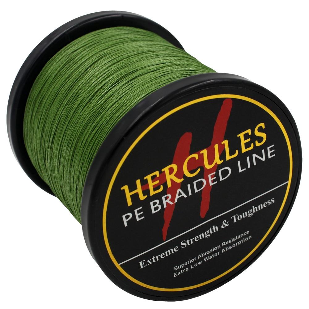 Hercules Fishing Line 4 Strands 1000M Braided Fishing Line Peche Saltwater Sea Carp Fishing Accessories Weave 100% PE Cord Pesca
