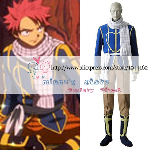 Fairy Tail Dragon Slayer Natsu Dragneel Celestial Spirit Cosplay Costume