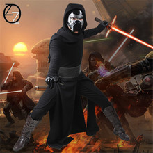 Star Wars 7:The Force Awakens Kylo Ren Cosplay Adult Uniform Black Cloak Coat Jedi Halloween Cosplay Costumes For Men Women