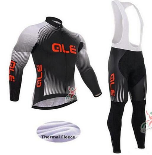 2017 Winter Thermal Fleece Cycling Jersey Set Maillot Ropa Ciclismo MTB Long Sleeve Warm Bike Wear ALE Bicycle Cycling Clothing teleyi 2017 women winter thermal fleece cycling clothing pro bike clothes wear mtb bicycle jersey set maillot ropa ciclismo sets