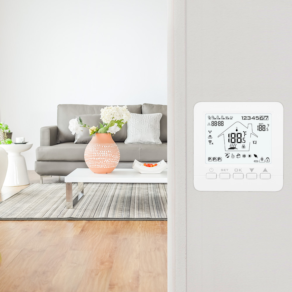 WiFi Thermostat Wall-hung Gas Boiler Heating Remote Control Temperature Controller Batteries Powered