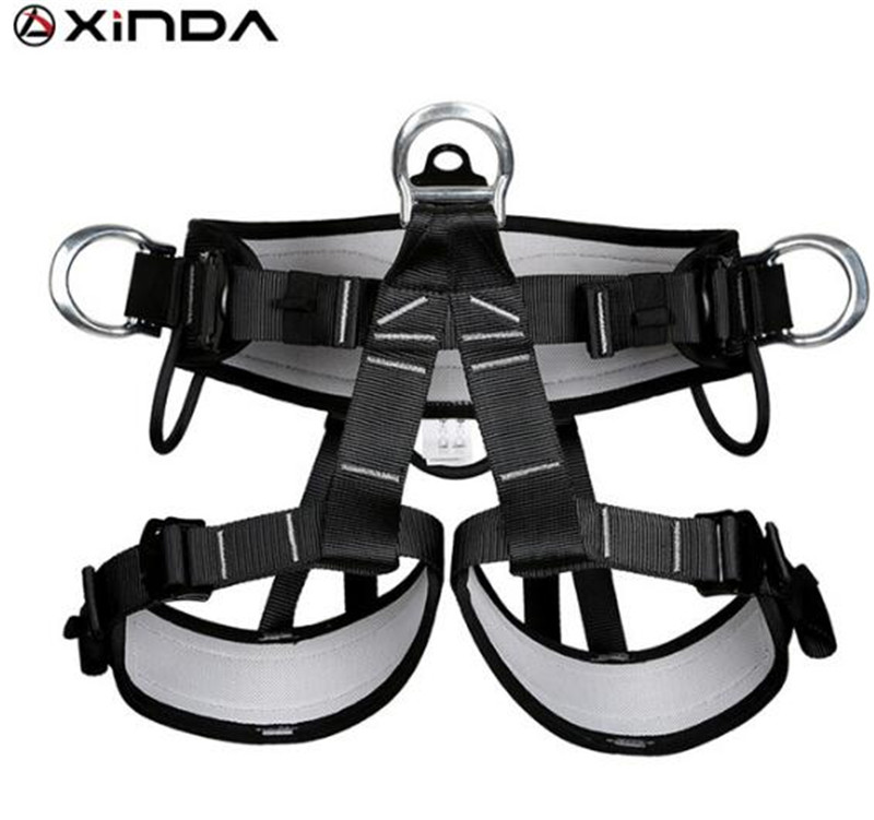 XINDA Camping Outdoor Hiking Rock Climbing Half Body Waist Support Safety Belt Harness Aerial Equipment xinda camping outdoor hiking rock climbing half body waist support safety belt harness aerial equipment