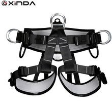 цены XINDA Camping Outdoor Hiking Rock Climbing Half Body Waist Support Safety Belt Harness Aerial Equipment