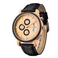 Прямая доставка лучший бренд Роскошные часы Дерево для мужчин модные повседневное бизнес для мужчин часы Военная Униформа деревянные нару