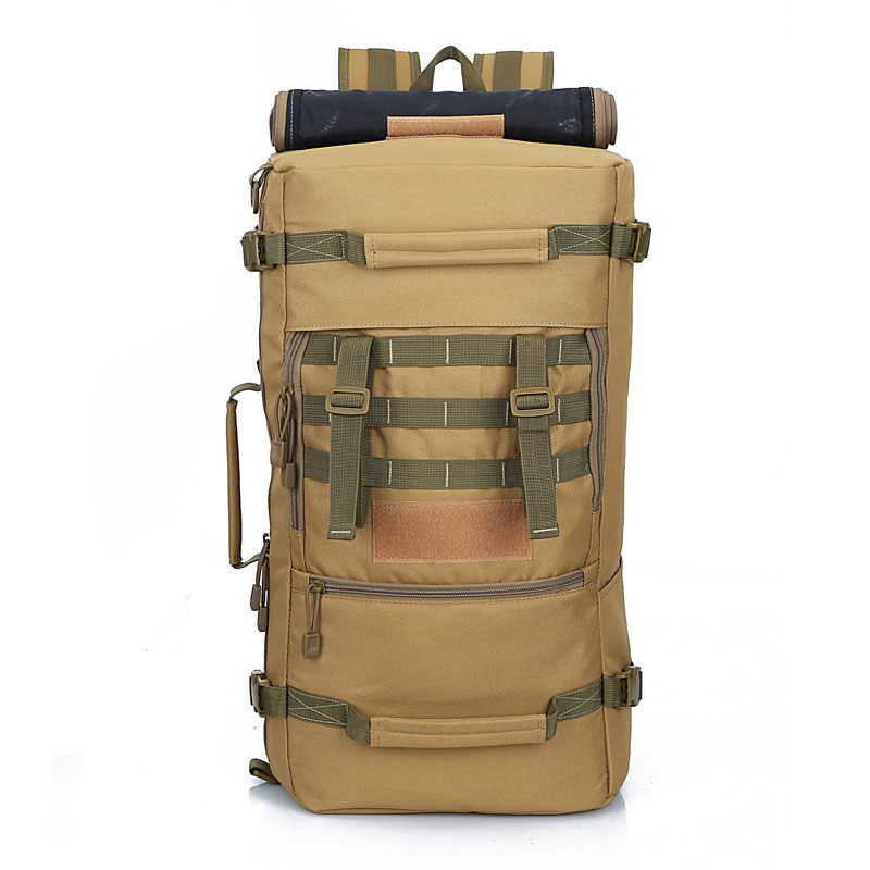 50l Large Capacity Men Travel Backpack Outdoor Hiking Backpacks Waterproof Nylon Military Tactical Backpack Mochila Tactica M65 Sports & Entertainment Camping & Hiking