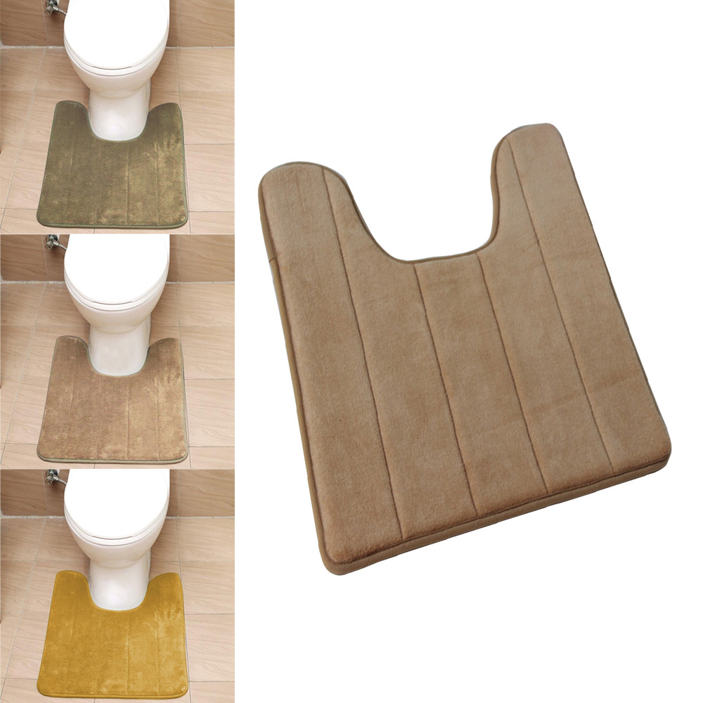 1PC New High Density Non Slip Bathroom Mat Cute U Shaped