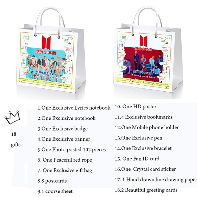 2018 New Bts Love Yourself Big Gift Collection Box With Star Lyrics
