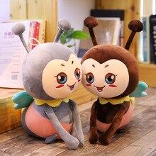 New 25/35/50cm Kawaii Honeybee Plush Toy Lovely Bee with Wings Soft Stuffed Baby Dolls Children Appease Dolls Kids Birthday Gift цены онлайн