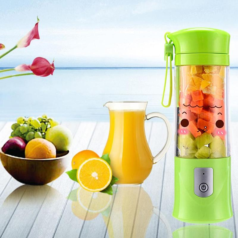 400ml USB Rechargeable Blender Mixer Small Juice Extractor Portable Mini Juicer Smoothie Maker Household Juice Machine
