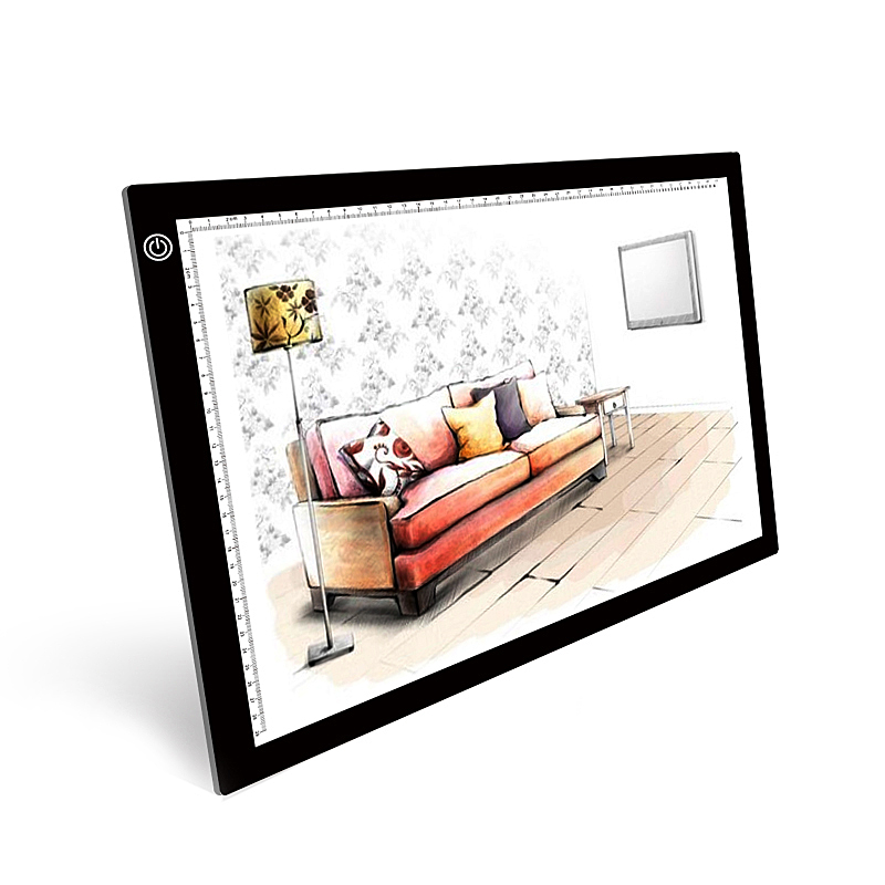 LED Light Box Tracing Copy Board Painting Writing Table A3 Digital Drawing Graphic Tablet Three level