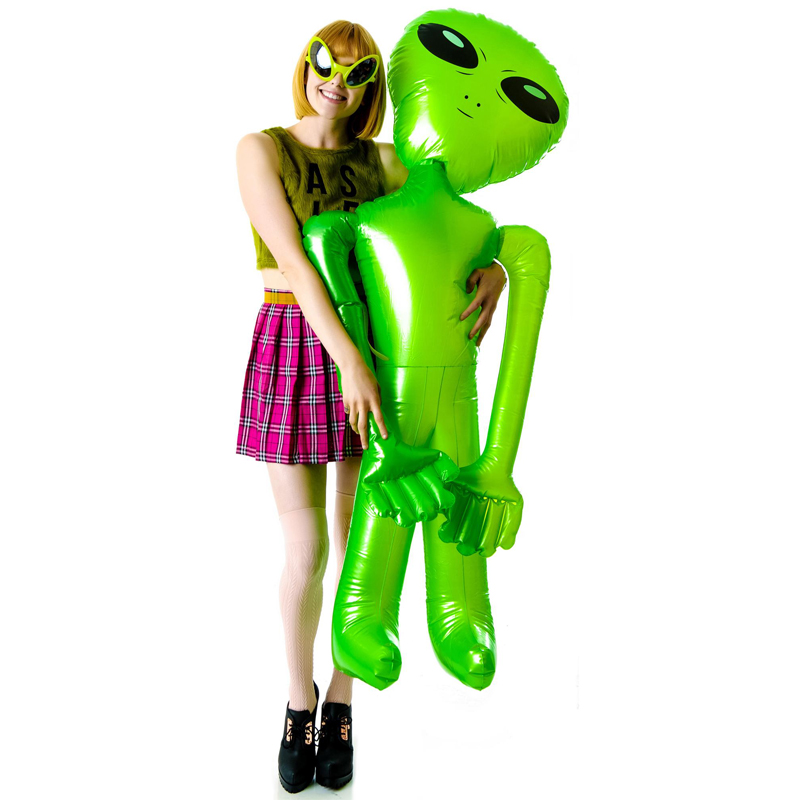 90cm/160cm PVC Alien Inflatable Adult Children Toys Halloween Terrorist Christmas Brithday Party Props Decor