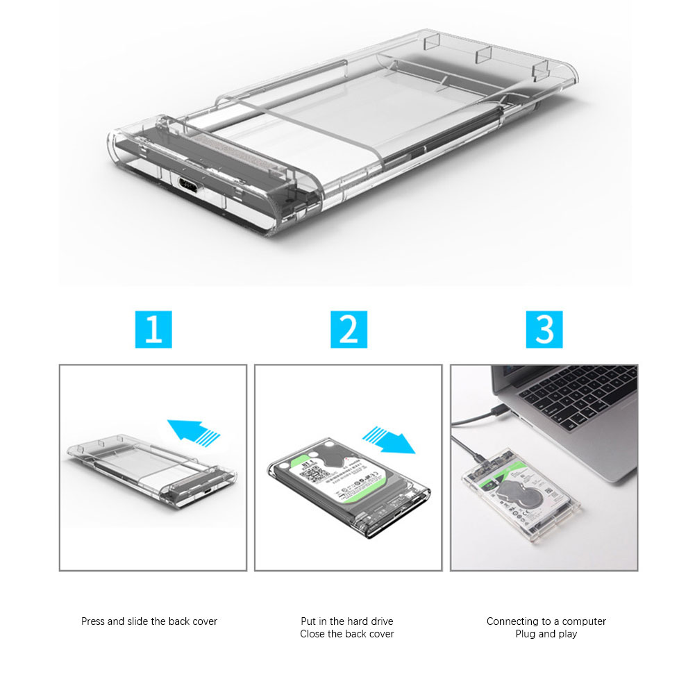 Usb3.0 Hard Disk Box 2.5 Inch Serial Port SATA Transparent Mobile Hard Disk Box