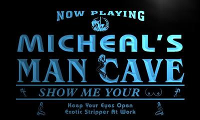 x0148-tm Micheals Man Cave Sexy Bar Custom Personalized Name Neon Sign Wholesale Dropshipping On/Off Switch 7 Colors DHL